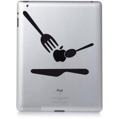 Naklejka na iPad 3 - Sztućce