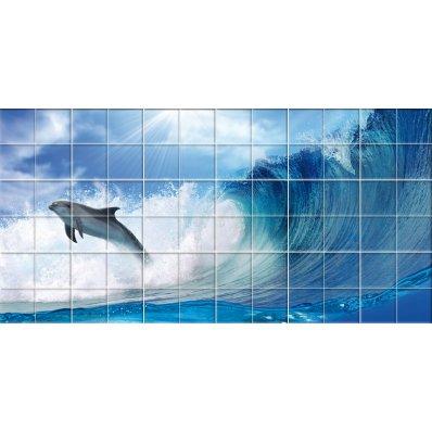 Naklejka na Płytki Ceramiczne - Delfin