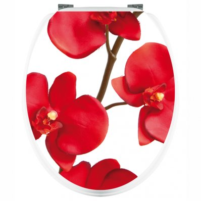 Naklejka na WC - Czerwona Orchidea