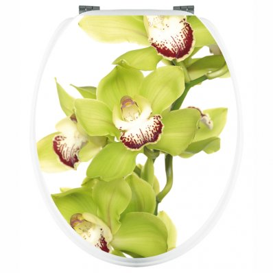 Naklejka na WC - Zielona Orchidea