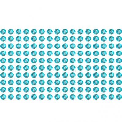 Naklejki błyszczące kryształki turkusowe