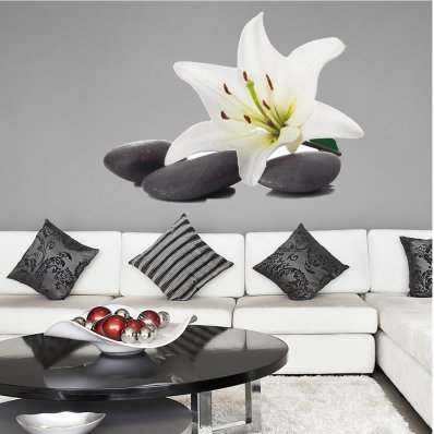 Orchid Pebble Wall Stickers