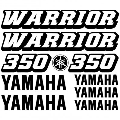 Pegatinas Yamaha 350 WARRIOR