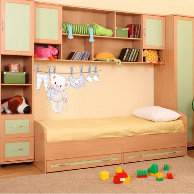 Pooh Clothing Wall Stickers