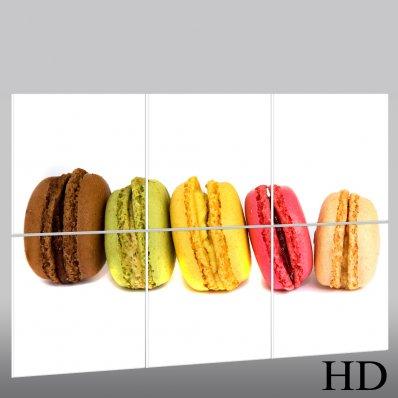 Quadro Triptico PVC macarons
