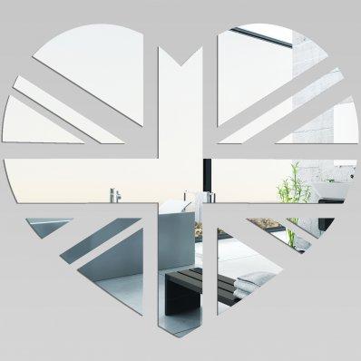 Adesivi follia specchio acrilico plexiglass cuore londra - Plexiglass a specchio ...