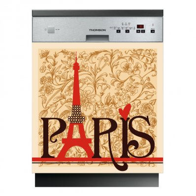 Spülmaschine Aufkleber Paris