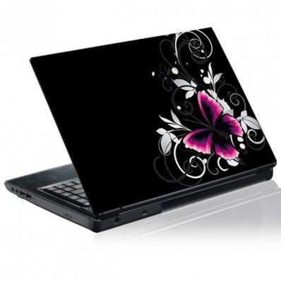 Sticker laptop exterior Fluturi