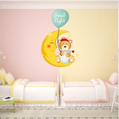 Sticker Pentru Copii Ursulet Noapte Buna