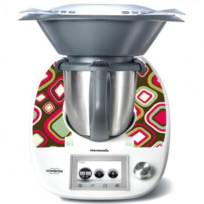 Sticker Thermomix TM 5 Patrat Abstract