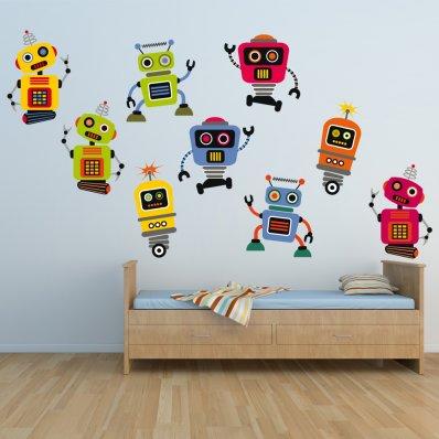 Stickere Copii kit  9 Roboti