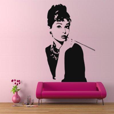 stickers audrey hepburn pas cher. Black Bedroom Furniture Sets. Home Design Ideas