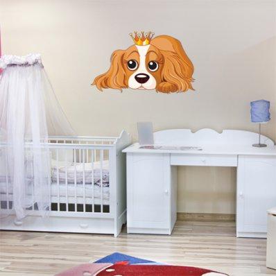 Autocollant Stickers enfant chienne princesse