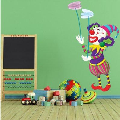 Autocollant Stickers enfant clown