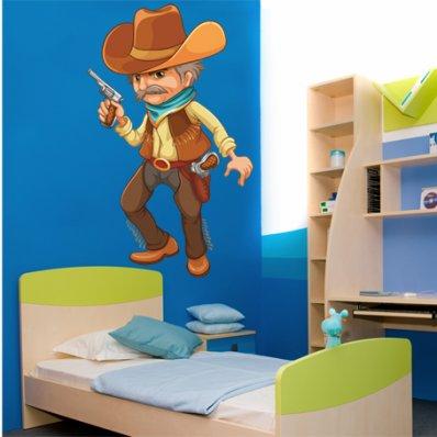 Autocollant Stickers enfant cowboy
