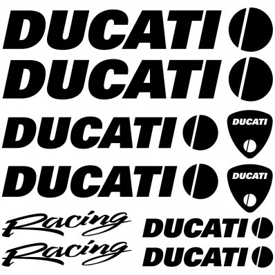 Autocollant - Stickers Ducati racing