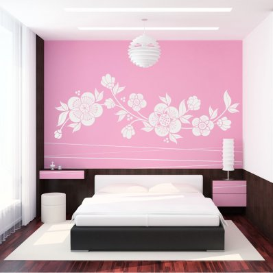 stickers fleur asiatique