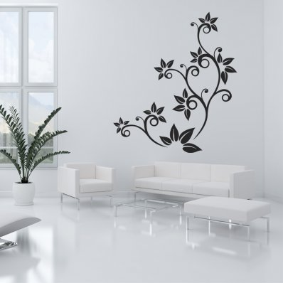 Stickers fleur ornementale