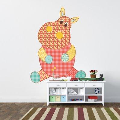 Autocollant Stickers enfant hippopotame
