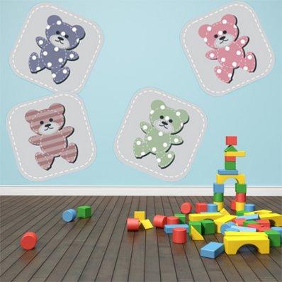 Autocollant Stickers enfant kit 4 oursons