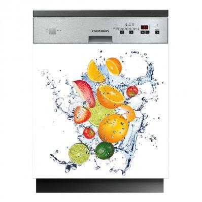 Stickers lave vaisselle fruits pas cher for Mon lave vaisselle fuit