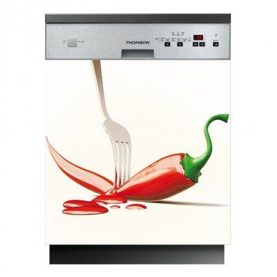 Stickers lave vaisselle piment pas cher for Stickers pour lave vaisselle