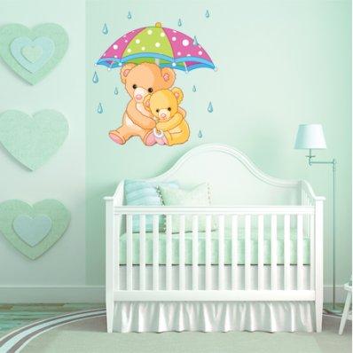 Autocollant Stickers enfant maman et bebe ourson