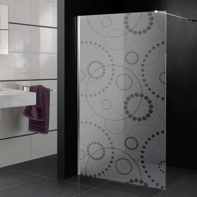 Stickers paroi de douche dépoli multironds cercles