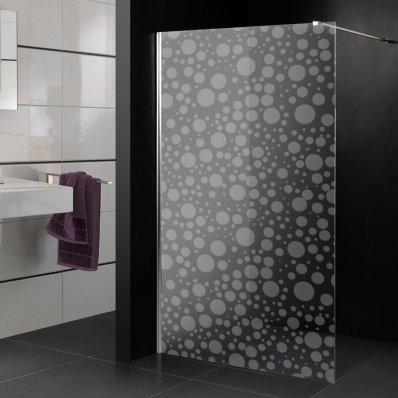 Stickers paroi de douche dépoli ronds 2