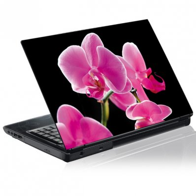 Stickers PC Orchidée Rose