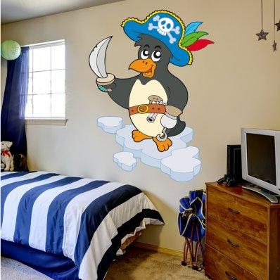 Stickers Pirate Pingouin