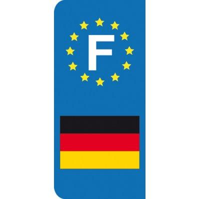 Stickers Plaque Allemagne