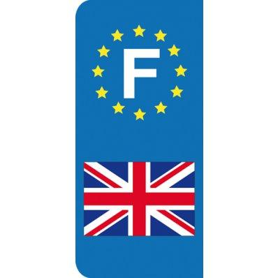 Stickers Plaque Anglais