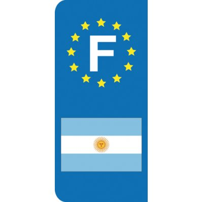 Stickers Plaque Argentine