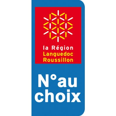 Stickers Plaque Languedoc Roussillon