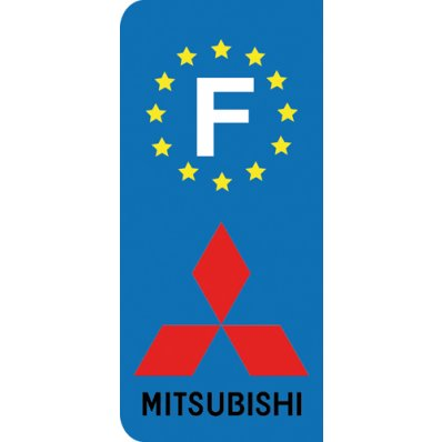 Stickers Plaque Mitsubishi