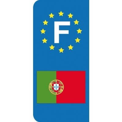 Stickers Plaque Portugal