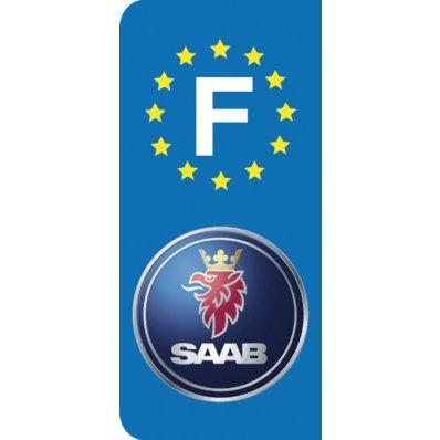 Stickers Plaque Saab