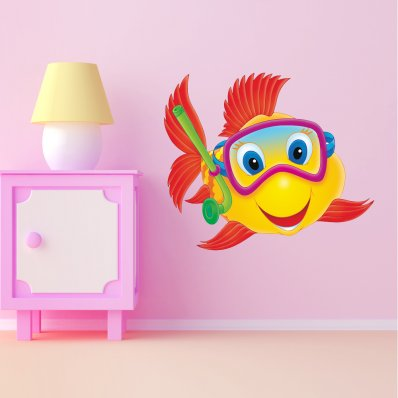 Stickers Poisson Masque