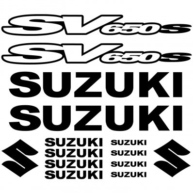 Autocollant - Stickers Suzuki SV650 S