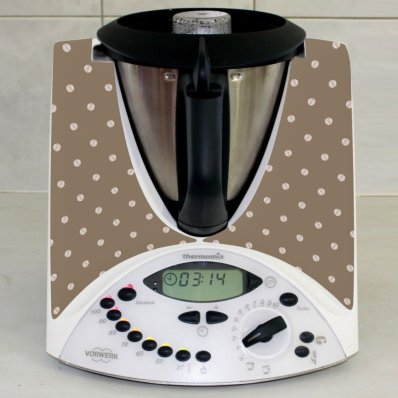 Stickers Thermomix TM31 Chocolat à pois