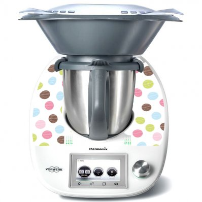 Stickers Thermomix TM5 A pois multucolore