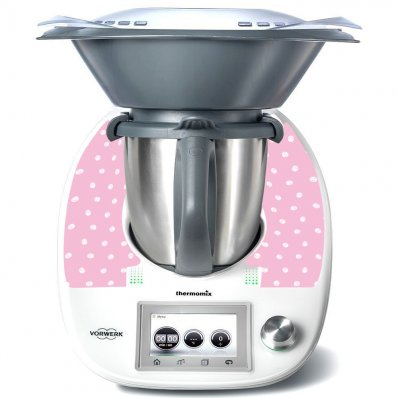 Stickers Thermomix TM5 Rose a pois