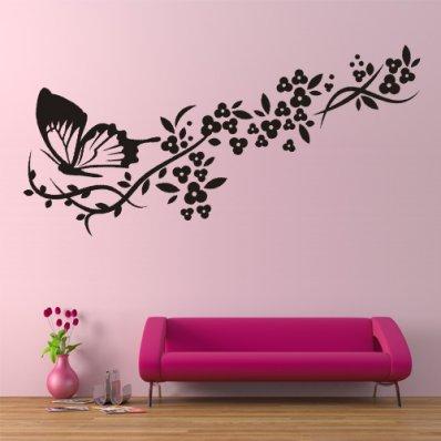 stickers papillon pas cher stickers folies. Black Bedroom Furniture Sets. Home Design Ideas