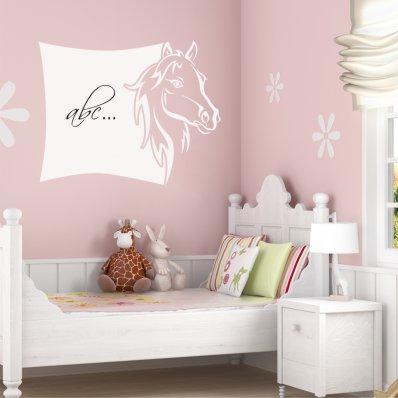 Stickers velleda cheval