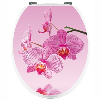 Stickers WC Orchidée Rose