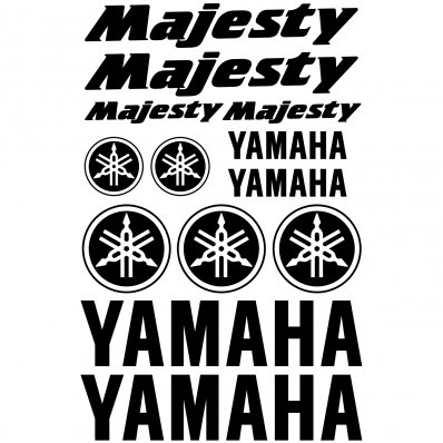 Autocollant - Stickers Yamaha Majesty