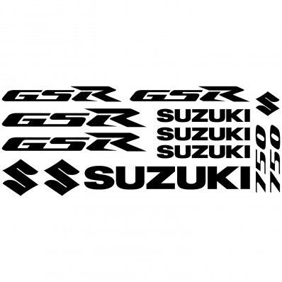 Suzuki Gsr 750 Decal Stickers kit