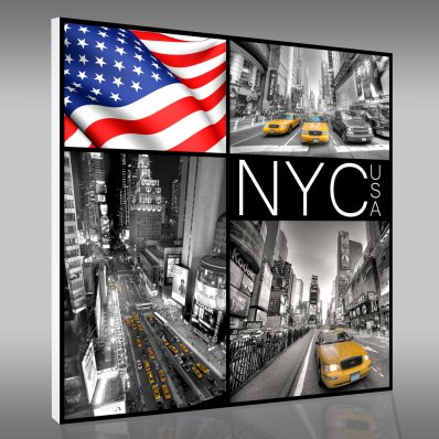 tableaux new york pas cher stickers folies. Black Bedroom Furniture Sets. Home Design Ideas