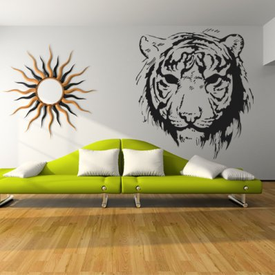 Tiger head Wall Stickers